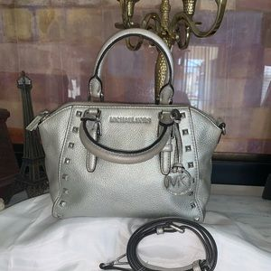 Michael  kors silver Pebbled Leather bag
